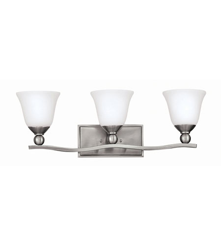 Hinkley Lighting Bolla 3 Light Bath in Brushed Nickel 5893BN-GU24 photo