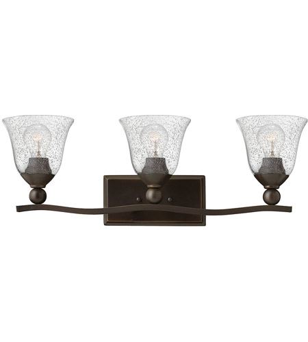 Hinkley 5893OB-CL Bolla 3 Light 26 inch Olde Bronze Bath Light Wall Light in Incandescent, Clear Seedy, Clear Seedy Glass photo