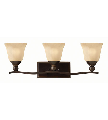 Hinkley 5893OB-GU24 Bolla 3 Light 26 inch Olde Bronze Bath Wall Light in Amber Seedy, GU24 photo