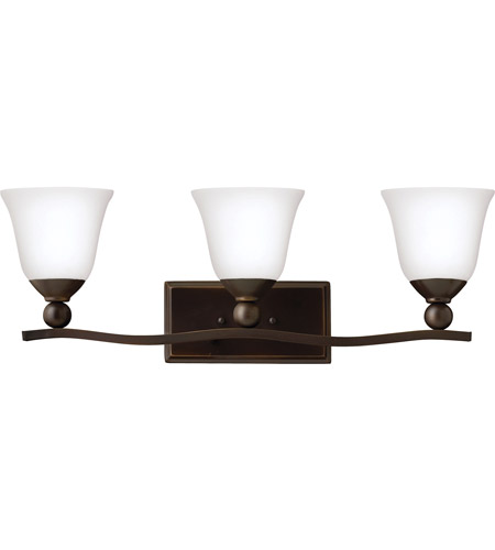 Hinkley Lighting Bolla 3 Light Bath in Olde Bronze 5893OB-OPAL