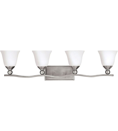 Hinkley 5894BN Bolla 4 Light 36 inch Brushed Nickel Bath Vanity Wall Light in Etched Opal, Incandescent photo