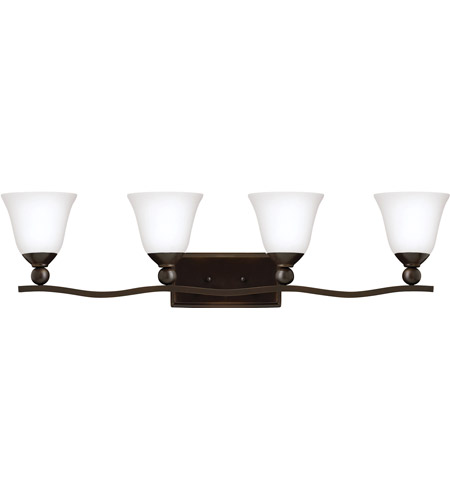 Hinkley 5894OB-OPAL Bolla 4 Light 36 inch Olde Bronze Bath Light Wall Light in Incandescent, Etched Opal photo