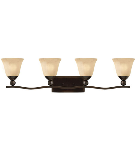 Hinkley 5894OB Bolla 4 Light 36 inch Olde Bronze Bath Vanity Wall Light in Amber Seedy, Incandescent photo