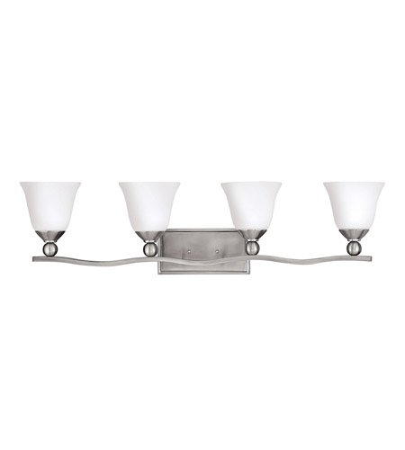 Hinkley 5894bn Led Bolla 4 Light 36 Inch Brushed Nickel Bath Vanity Wall Light In Led Etched