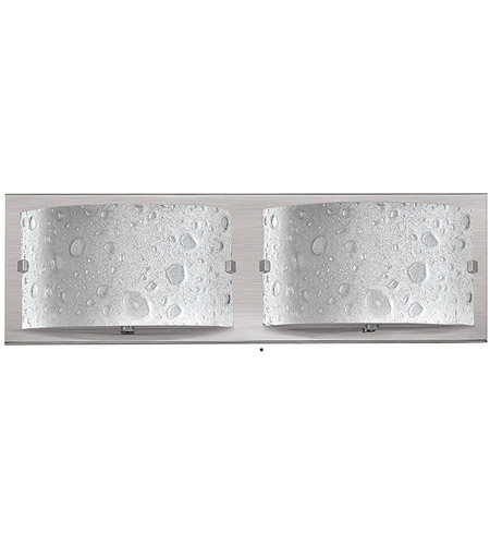 Hinkley 5922BN Daphne 2 Light 16 inch Brushed Nickel Bath Light Wall Light in Etched Bubble Art photo