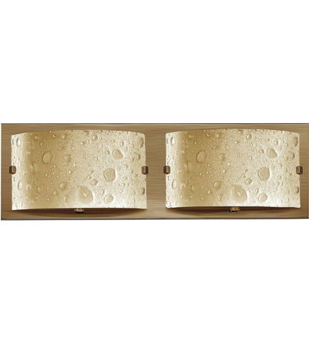 Hinkley 5922BR Daphne 2 Light 16 inch Brushed Bronze Bath Light Wall Light in Amber Etched Bubble Art photo