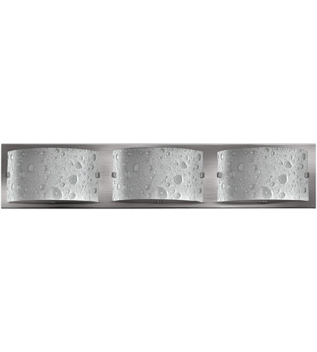 Hinkley 5923BN Daphne 3 Light 24 inch Brushed Nickel Bath Light Wall Light in Etched Bubble Art photo