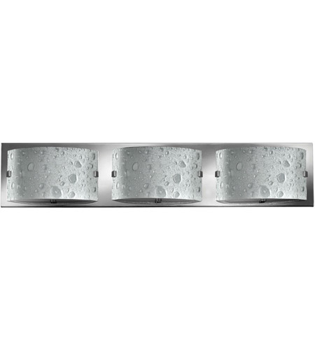 Hinkley 5923CM Daphne 3 Light 24 inch Chrome Bath Vanity Wall Light in Bubble Art, G9 photo