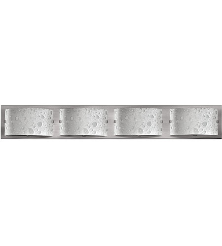 Hinkley 5924BN Daphne 4 Light 32 inch Brushed Nickel Bath Light Wall Light in Etched Bubble Art photo