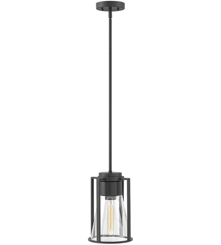 Hinkley 63307BK-CL Refinery 1 Light 8 inch Black Pendant Ceiling Light in Clear photo