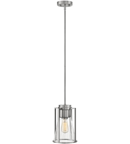 Hinkley 63307BN-CL Refinery 1 Light 8 inch Brushed Nickel Pendant Ceiling Light in Clear Seedy photo