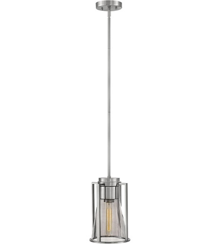 Hinkley 63307BN-SM Refinery 1 Light 8 inch Brushed Nickel Pendant Ceiling Light in Smoked photo