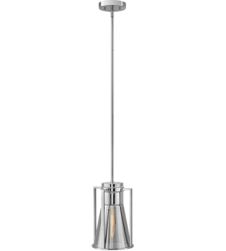 Hinkley 63307CM-MR Refinery 1 Light 8 inch Chrome Pendant Ceiling Light in Mirrored photo
