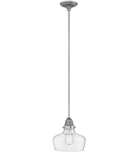 Hinkley 67072EN Academy 1 Light 10 inch English Nickel Pendant Ceiling Light photo