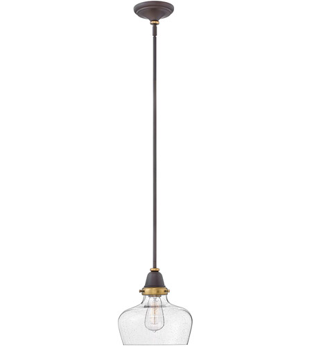 Hinkley 67072OZ Academy 1 Light 10 inch Oil Rubbed Bronze/Heritage Brass Pendant Ceiling Light photo