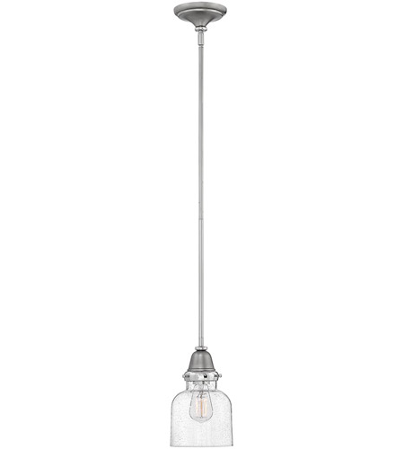 Hinkley 67073EN Academy 1 Light 7 inch English Nickel/Polished Nickel Pendant Ceiling Light photo
