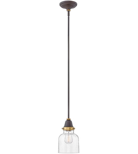 Hinkley 67073OZ Academy 1 Light 7 inch Oil Rubbed Bronze/Heritage Brass Pendant Ceiling Light photo
