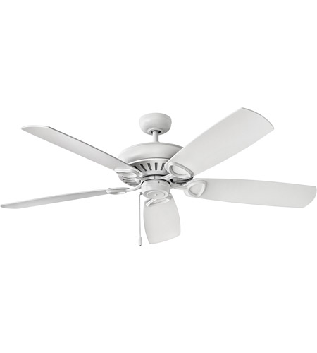 Hinkley 900460FCW-NID Gladiator 60 inch Chalk White with Chalk White/Weathered Wood Blades Ceiling Fan photo thumbnail