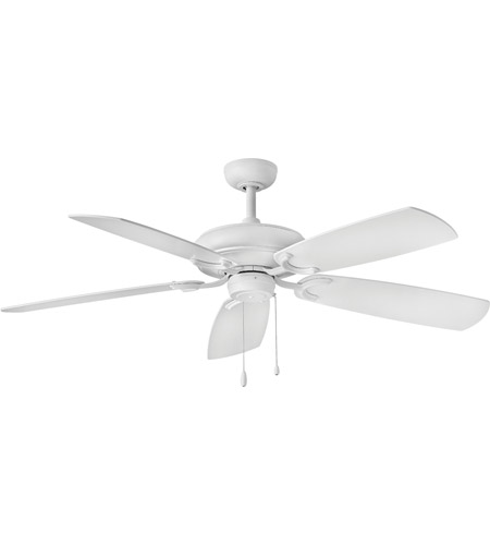 Hinkley 901256FCW-NID Grove 56 inch Chalk White with Chalk White/Weathered Wood Blades Ceiling Fan photo thumbnail