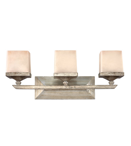Hinkley FR59193SLF San Simeon 3 Light 24 inch Silver Leaf Bath Light Wall Light photo