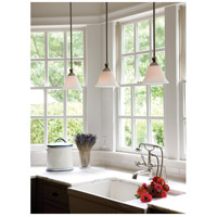 Hinkley 4667BN Bolla 1 Light 8 inch Brushed Nickel Mini-Pendant Ceiling Light in Incandescent, Etched Opal alternative photo thumbnail