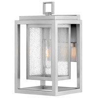 Hinkley 1000SI Republic 1 Light 12 inch Satin Nickel Outdoor Wall Mount, Coastal Elements