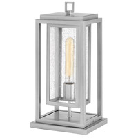 Hinkley 1007SI Republic 1 Light 17 inch Satin Nickel Outdoor Pier Mount, Coastal Elements