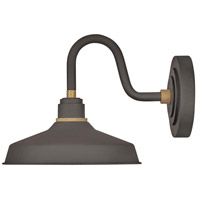 Hinkley 10231MR Foundry 1 Light 13 inch Museum Bronze with Brass Accents Outdoor Wall Mount