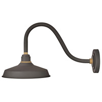 Hinkley 10342MR Foundry 1 Light 14 inch Museum Bronze with Brass Accents Outdoor Wall Mount