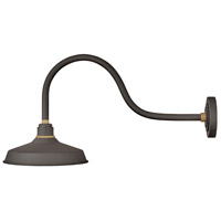 Hinkley 10352MR Foundry 1 Light 16 inch Museum Bronze with Brass Accents Outdoor Wall Mount