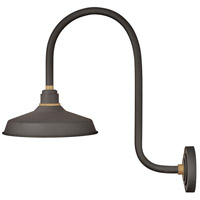 Hinkley 10372MR Foundry 1 Light 24 inch Museum Bronze with Brass Accents Outdoor Wall Mount