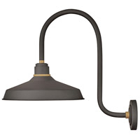 Hinkley 10473MR Foundry 1 Light 24 inch Museum Bronze with Brass Accents Outdoor Wall Mount