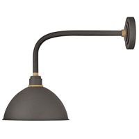 Hinkley 10514MR Foundry 1 Light 19 inch Museum Bronze with Brass Accents Outdoor Wall Mount