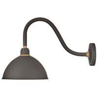Hinkley 10544MR Foundry 1 Light 17 inch Museum Bronze with Brass Accents Outdoor Wall Mount
