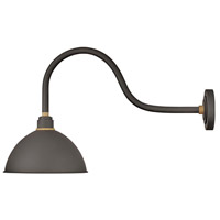 Hinkley 10554MR Foundry 1 Light 17 inch Museum Bronze with Brass Accents Outdoor Wall Mount