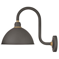 Hinkley 10564MR Foundry 1 Light 17 inch Museum Bronze with Brass Accents Outdoor Wall Mount