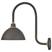 Hinkley 10574MR Foundry 1 Light 24 inch Museum Bronze with Brass Accents Outdoor Wall Mount