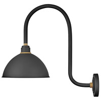 Hinkley 10574TK Foundry 1 Light 24 inch Textured Black with Brass Accents Outdoor Wall Mount