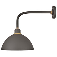 Hinkley 10615MR Foundry 1 Light 21 inch Museum Bronze with Brass Accents Outdoor Wall Mount