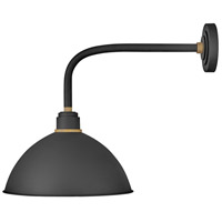 Hinkley 10615TK Foundry Dome 1 Light 21 inch Textured Black/Brass Outdoor Wall Mount