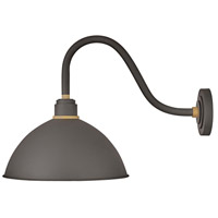 Hinkley 10645MR Foundry 1 Light 18 inch Museum Bronze with Brass Accents Outdoor Wall Mount