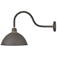 Hinkley 10655MR Foundry 1 Light 20 inch Museum Bronze with Brass Accents Outdoor Wall Mount