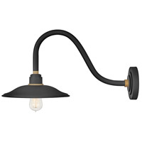 Hinkley 10746TK Foundry Vintage 1 Light 12 inch Textured Black/Brass Outdoor Wall Mount