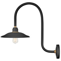 Hinkley 10776TK Foundry 1 Light 23 inch Textured Black with Brass Accents Outdoor Wall Mount