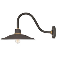 Hinkley 10847MR Foundry 1 Light 13 inch Museum Bronze with Brass Accents Outdoor Wall Mount