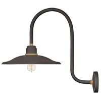 Hinkley 10877MR Foundry 1 Light 24 inch Museum Bronze with Brass Accents Outdoor Wall Mount