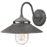 Atwell 1 Light 12 inch Aged Zinc Outdoor Wall Mount, Open Air