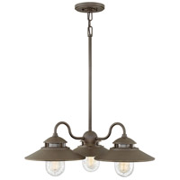 Hinkley 1113OZ Atwell 3 Light 24 inch Oil Rubbed Bronze Outdoor Chandelier, Open Air