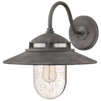 Hinkley 1114DZ Atwell 1 Light 15 inch Aged Zinc Outdoor Wall Mount, Open Air
