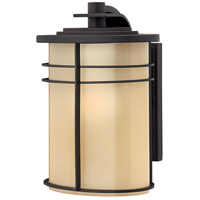 Ledgewood 1 Light 11 inch Museum Bronze Outdoor Wall Lantern in Champagne Inside-Etched, Incandescent